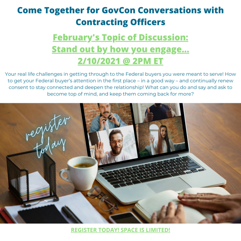 GovCon Conversations with Contracting Officers: Stand out by how you engage