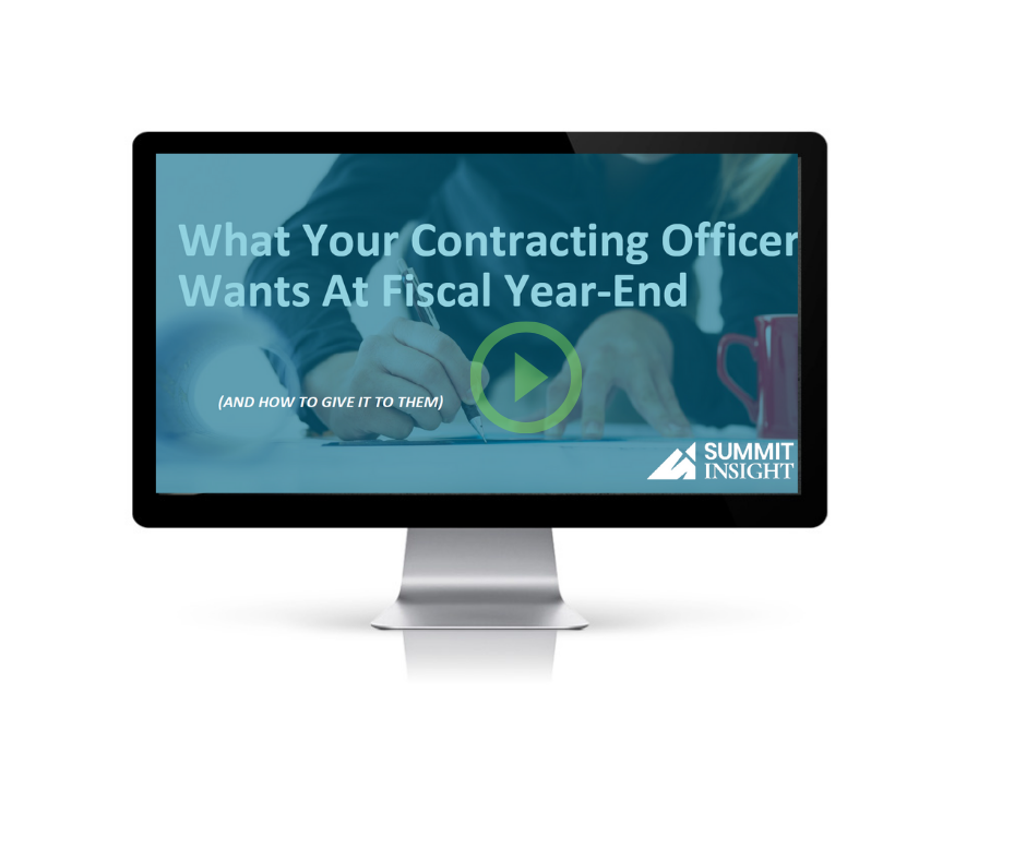 What your Contracting Officer Wants Monitor