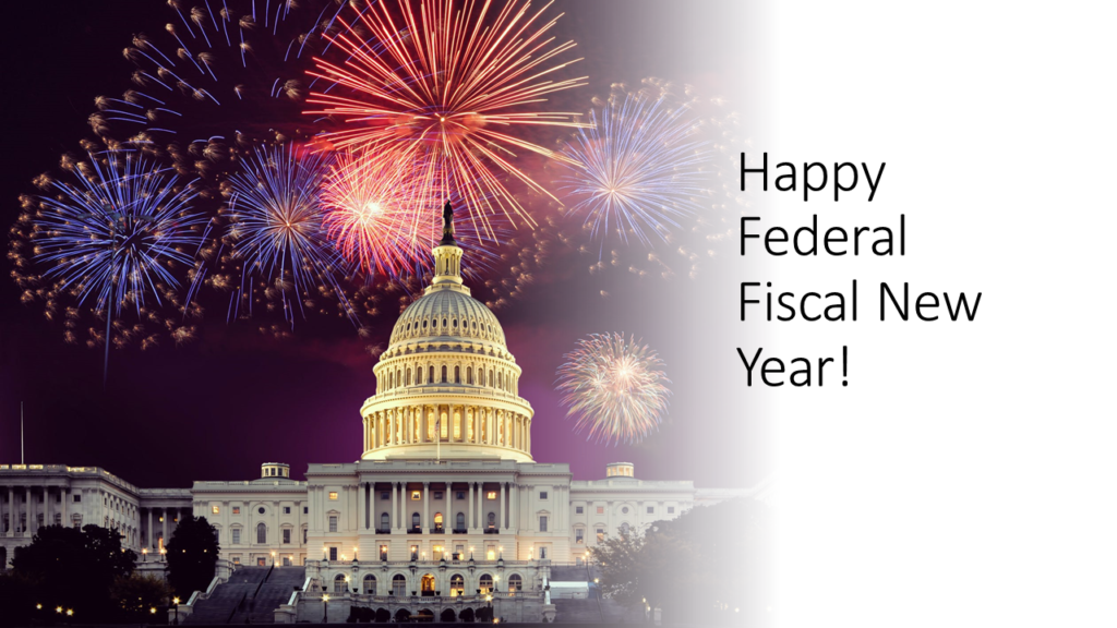 Happy Federal Fiscal New Year Blog Header Image